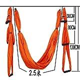 WANGY Fitness 6 manijas Yoga Hamaca Set 250 * 150cm Dispositivo de tracción Anti-Gravedad Gimnasio en casa Cinturón Colgante Columpio Forma del Cuerpo Transpirable