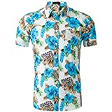 Camisa Hawaiana De Manga Corta con Estampado De AlgodóN Tencel Informal De Primavera Y Verano para Hombre