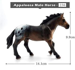 Yoin Simulación Caballo Modelo Animal Figura de plástico decoración para el hogar Figura Hada Miniatura Accesorios