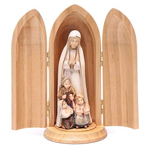 Holyart Estatua Virgen de Fátima y Tres pastores con nicho
