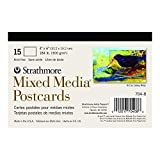 Strathmore Mixed Media Postcards, 15 Blank 4x6 inch Postcards Ready to Paint and Send (704-8)