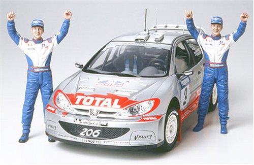 タミヤ 1/24 スポーツカーシリーズ No.262 プジョー 206 WRC 02 ウィナー仕様 プラモデル 24262