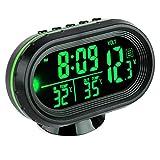 VICKMALL, termometro/orologio digitale portatile per auto con schermo LCD,...