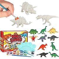 おもちゃキッズ恐竜絵画キットだDIY恐竜おもちゃアートそして工芸品補給品セット3D絵画アニマルセットのために男の子女の子年齢34567歳 ポータブル