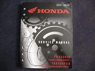 Honda 2001-2004 TRX500 TRX 500 FA FGA Foreman Rubicon & GPScape New Original Factory Service Manual