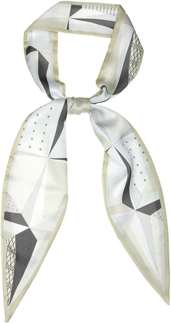 Allegra K Women Geometric Skinny Pointed Scarf Sharp Neck Scarves Double-Sided Long Neckerchief