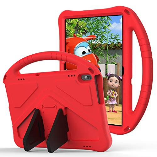 JIANWU Cover, For Lenovo Tab P10 (TB-X705F/L) case for Smart Tab M10(TB-X605F) case for Lenovo Tab M10(TB-X505F) Case,for Kids Eva Shockproof Lightweight Dropproof Stand Tablet Case (Color : Red)