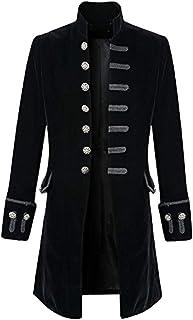 SMILEQ Ausverkauf Herren Männer Casual Autumn Winter Warme Drucken Mantel Frack Jacke Gothic Gehrock Uniform Kostüm Party Oberbekleidung