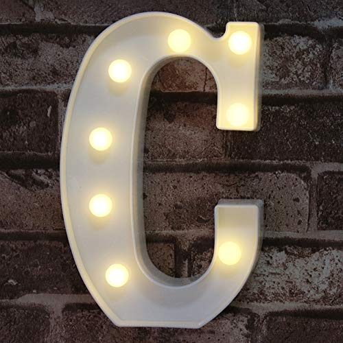 LED Marquee Letter Lights Sign, Light Up Alphabet Letter for Home Party Wedding Decoration C