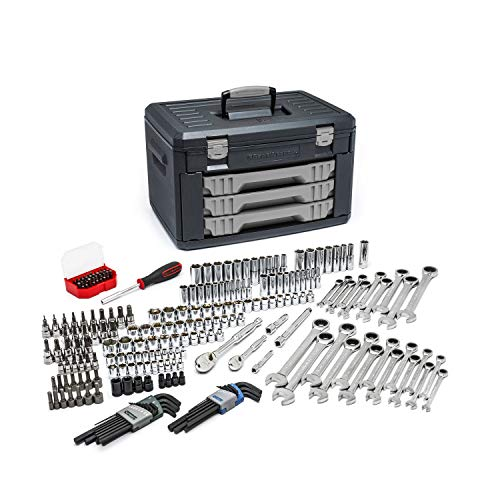 :GEARWRENCH 80944 - 232 Pc. Mechanics Tool Set in 3 Drawer Storage Box