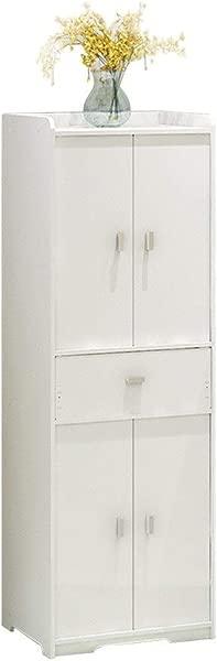 Floor Standing Locker Living Room Floor Standing Locker Bathroom Floor Cabinet Storage Organizer Rack Color White Size 4030120cm