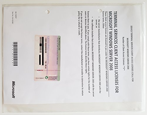 MICROSOFT - TJA-00096 - WIN TERMINAL SVCS CAL 2008