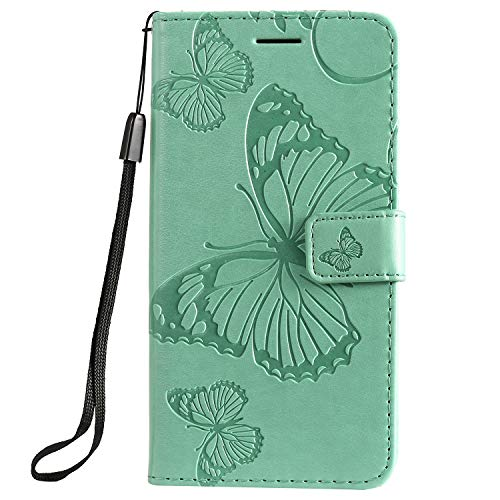 Leather Wallet Case for Moto G7 Play Flip Case Protective Shockproof Cover with Magnetic Closure, Stand Function, Card Slots for Motorola Moto G7Play - JEKT041757 Green