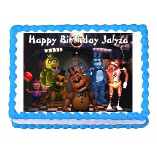 Amazon Five Nights At Freddys FNaF Party Edible Cake Image Topper Frosting Sheet 1 Toys Games