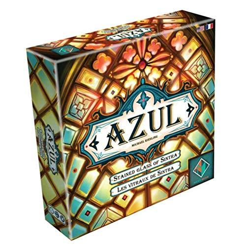 MXGP Estrategia Adultos Juegos de Mesa Azul - Las vidrieras de Sintra Color Azulejos de cerámica Juegos de Mesa Juego de Cartas para Adolescentes Juego de Fiesta Familiar para niños,en inglés