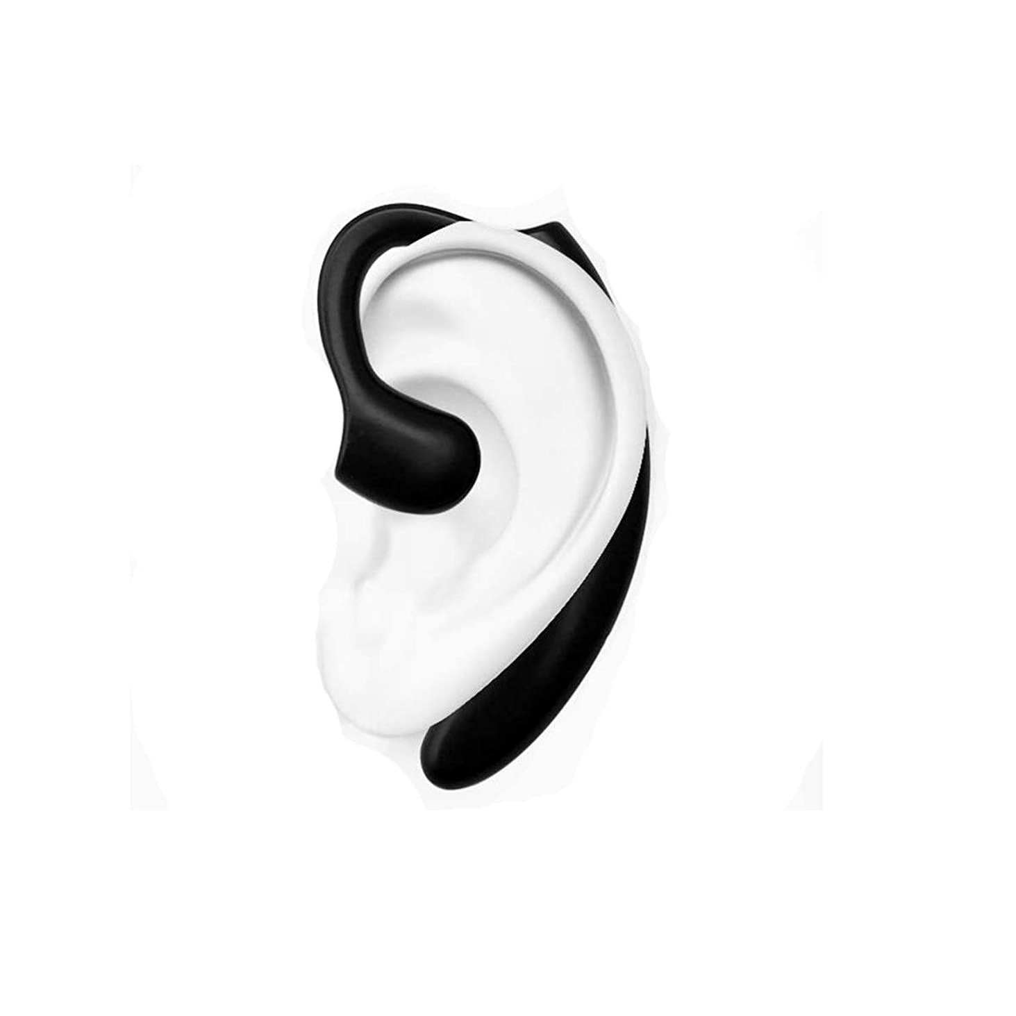 屋内有限先生MINGSHENGWANGLUOKEJI ブルートゥースヘッドセット5.0ワイヤレスは、電話の骨伝導ハンギングイヤーワイヤレスヘッドセットを運転することができます ヘッドフォン (Color : Silver)