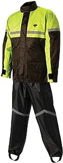 Nelson-Rigg Stormrider Rain Suit (Black/High Visibility Yellow, XXX-Large)