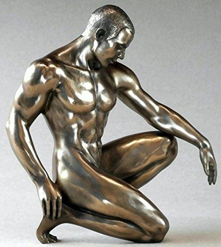 Body Talk Skulptur Mann kniend - Polyresin, #75079