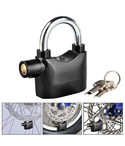EX1 2en1 Bici Cerradura Seguridad Alarma 120dB Sirena con 3 llave para Bici Motocicleta Candado Puerta Ventana