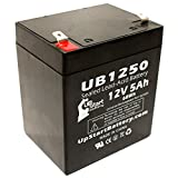 Repuesto para alarma de seguridad ADT Safewatch Pro 3000EN batería (12 V, 5 Ah, 5000 mAh, terminal F1, AGM, SLA) – Incluye dos adaptadores de terminal F1 a F2