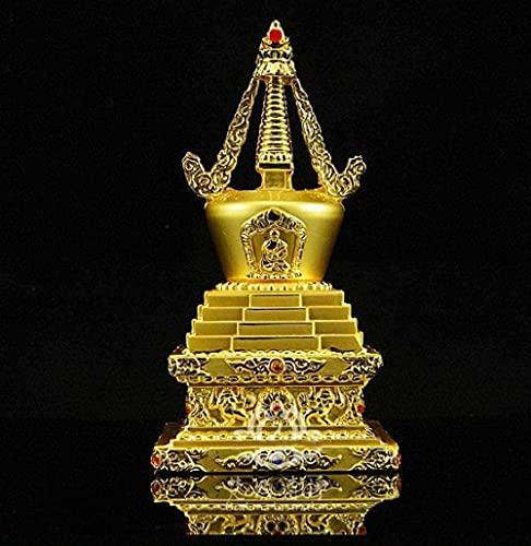 YANGHONDD Escultura Decoración Estatuas Figuritas Bustos Esculturas Estatuas Figuras Coleccionables Budismo Tibetano Estupa De Cobre Torre Bodhi