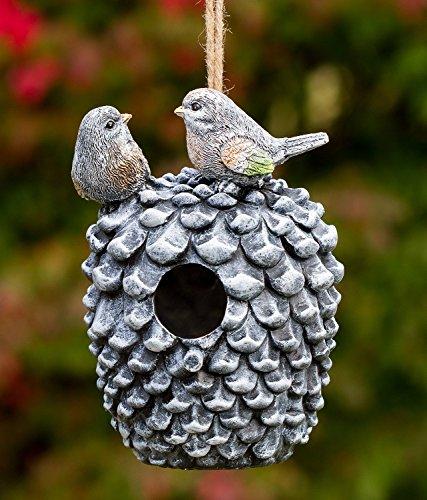 Dawhud Direct Pinecone Decorative Hand-Painted Bird House