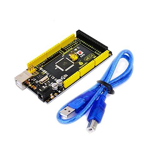 KEYESTUDIO Mega 2560 R3 マイコン 開発ボード + USBケーブル キット for Arduino アルディーノ アルドゥイーノ アルデュイーノ メガ 互換