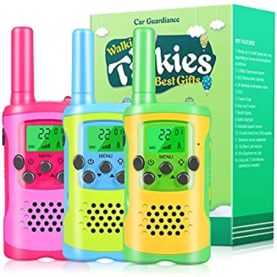 Walkie Talkies for Kids, 22 Channel 2 Way Radio 3 Mile Long Range Kids Toys & Handheld Kids Walkie Talkies, Best Gifts & Top Toys for Boy & Girls Age 3 4 5 6 7 8 9 for Outdoor Game, Boys Toy?3 Pack?