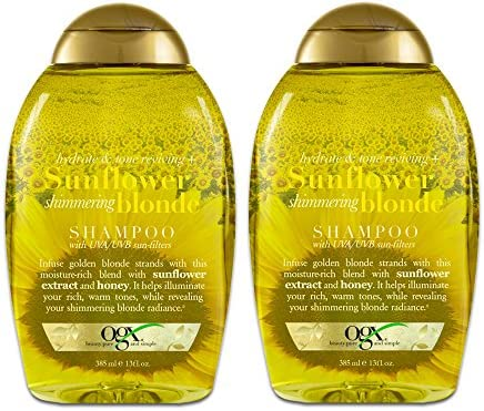 Ogx Shampoo Sunflower Shimmering Blonde 13 Ounce 385ml 2 Pack product image