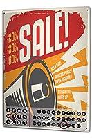 カレンダー Perpetual Calendar Retro Sale Tin Metal Magnetic