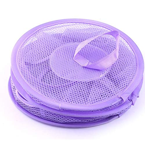 "Organize The Suspension of Storage Items, Mesh Hanging Storage with 3 Tier Toy Hammock,While neatly organizing Children's Toys,Gloves,Shawls, Hats and Mittens,27x10.35"" 2 Pack (Purple and Yellow)"