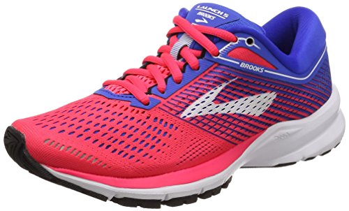 Brooks Women's Launch 5 Running Shoes, Pink (Pink/Blue/White 1b652), 4 UK