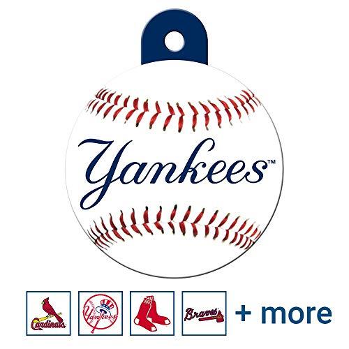 GoTags Personalized Engraved Sports Team Dog Tags, MLB Baseball Round Shape Pet ID Tags