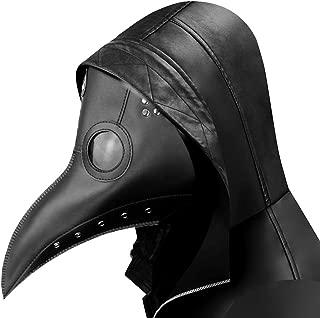 Plague Doctor Mask - Long Nose Bird Beak Steampunk Halloween Costume Props Mask Black