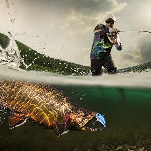 DAUERHAFT Bola de Acero de baricentro múltiple incorporada, Cebo de Pesca ecológico Inodoro, señuelo de Pesca de plástico, Amante de la Pesca