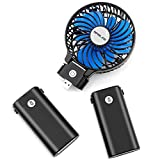 OPOLAR 10400mAh Battery Operated Strong Wind Foldable Design Portable Handheld Fan with 10-40 Hours Working Time, 3 Setting cable clips May, 2021