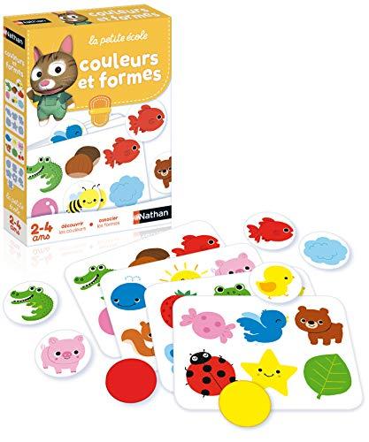 Nathan - Couleurs et formes - Coffret progressif pour découvrir les couleurs et associer les formes de 2 à 4 ans