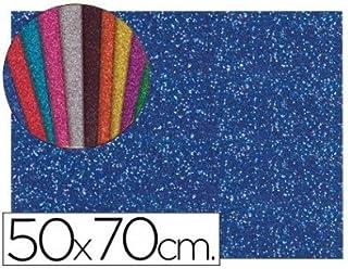 619f8c8fb Liderpapel - Goma eva con purpurina 50x70cm 60g/m2 espesor 2mm azul oscuro  (10