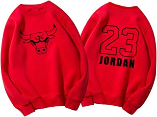Bulls Man No23 Pullover Hoodie Basketball Sport Pullover Herren Fr/ühling und Herbst Winter Hoodie