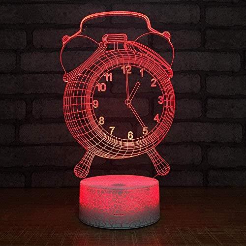 Lámpara de escritorio de mesa de ilusión óptica 3D Reloj 7 variaciones de color Gradientes de color Panel acrílico Lámpara de escritorio Decoración de dormitorio-16 colors remote