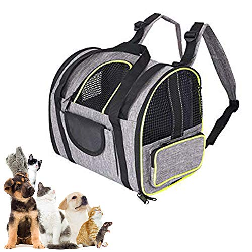 Minjie - Mochila transportadora de mascotas, portátil, transpirable, bolsa de viaje aprobada por aerolíneas para perros, gatos, pequeñas mascotas y cachorros