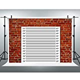 EOA 7(W) x5(H) FT Mugshot Sign Brick Wall Backdrop Height Chart Photography Background for Wedding Birthday Bachelorette Party Events Funny Decoration Selfie Photo Booth Prop