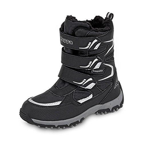 Kappa Unisex-Kinder TEX KIDS Sneaker, Mehrfarbig (Black,Silver 001), 31 EU