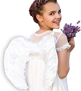Angel Wings and Halo for Kids Halloween Costume Feather Angel Wing for Girls Women Adult