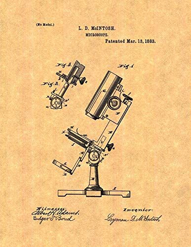 Microscope Patent Print (8' x 10') M12002