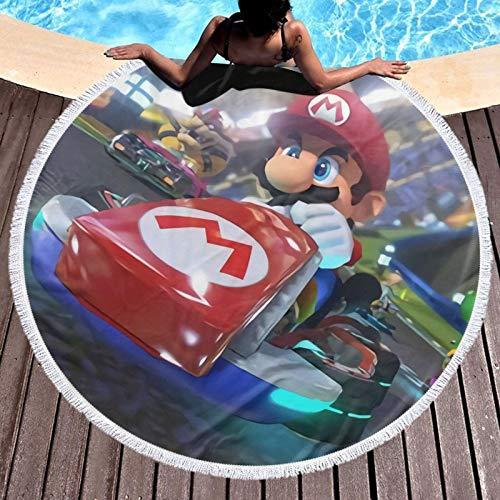 Mar-io Cover Ka-rt Toalla extra grande de secado rápido, absorbente, ligera, compacta, para deportes, gimnasio, natación, viajes, playa, camping, baño, yoga y pilates