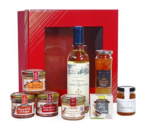 """Ducs de Gascogne - Coffret gourmand """"Voyage d'Epicure"""" - comprend 6 produits dont un foie gras - spécial cadeau (946503)"""