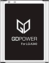 LG A340 Battery, GDPower 1000mAh Li-ion Battery Replacement for LG A340 BL-46CN Cosmos 2/Cosmos 3 [24 Month Warranty]