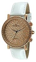 Peugeot Couture j6369rgw Paveダイヤルホワイトレザー腕時計