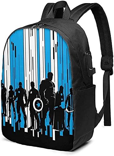 Marvel Avengers, zaino per la scuola con porta di ricarica USB (A1)